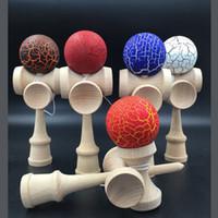 japanisches holzspielzeug großhandel-Holz Kendama Crack Paint Ball kendama Fähigkeit Ball Jonglierspiel Ball japanischen traditionellen Kugeln Lernspielzeug Kinder Geschenk auf Lager