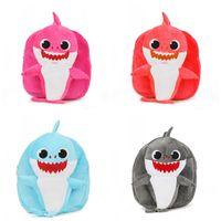 ingrosso zaini di anni-Cartone animato Baby Shark Zaino Cinque colori Peluche da 1 a 4 anni Bambini Snack Zaini Lovely Storage Bags 16mg E1
