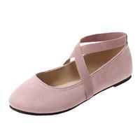 ingrosso scarpe da ballo di yoga-mokingtop (mokingtop) Per il tempo libero Balletto piatto da ballo per donna Yoga Scarpe a punta tonda Fondo morbido scarpe da spiaggia Sapatos femininos # g5