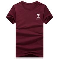 ingrosso magliette spandex in vendita-vendite calde cotone Nuovo Mens Summer Tees T-shirt manica corta t-shirt stampata in cotone t-shirt uomo designer abbigliamento S-3XL2019