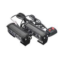 светодиодные лампы оптовых-4 LED Grille Bar Car Truck Strobe Flash Emergency Warning Light 12V 2Pcs