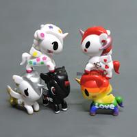 geburtstagsgeschenk liebe großhandel-Kuchen Kunst Figuren Puppe Spielzeug Regenbogen Pferd 9 Modelle LIEBE Pferd für Geburtstag Weihnachtsgeschenk Spielzeug