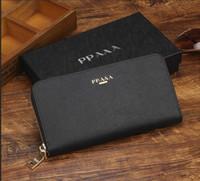uzun çanta cüzdanı çantası toptan satış-Avrupa ve Amerika Birleşik Devletleri lüks cüzdan moda uzun cüzdan tasarımcı cüzdan çanta cüzdan kutusu ile Çok renkli isteğe bağlı çanta