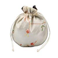 sacs à main de broderie de soie achat en gros de-Qualité 1 pc Traditionnel Soie Voyage Pochette Classique Chinois Broderie Bijoux Emballage Sac Organisateur Sacs À Main
