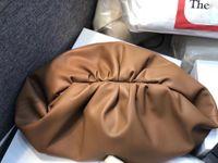 saco plissado venda por atacado-Saco das mulheres nuvem crossbody Bolsas De Luxo designer de couro real messenger Plissado Bolinhos Saco Alça De Ombro Embreagem Grande Saco 38 CM