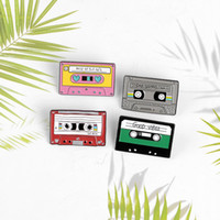 Wholesale enamel pin badges for sale - Group buy Tape Record Best Of The s Purple Cassette Metal Enamel Brooch Personality Creative Badge Pin New Trendy Jewelry Gift