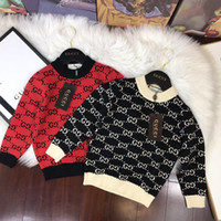 Wholesale rendering clothing resale online - 2020 Baby Kids Clothing Winter Girls Children SweaterChildren s Garment Rendering Round Neck Pullover In Will Knitting Good quality