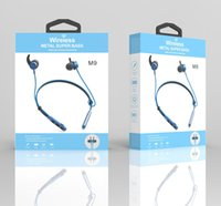 Wholesale necks for basses for sale - Group buy M9 Wireless Bluetooth hearphone Neck Support Magnetic Sport Super Bass Earphone Hanging neck Sport for iphone xr xs max ios Android headset