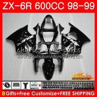 Wholesale black white 636 resale online - Fairing For KAWASAKI NINJA ZX CC ZX6R Kit HC ZX636 ZX R ZX R ZX600 CC ZX R Body glossy black