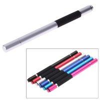 kalem kapasitif kalem ince toptan satış-Çok İşlevli Tablet PC Stylus Kalem Metal İnce Nokta Yuvarlak İnce İpucu Ipad için Kapasitif Dokunmatik Ekran Stylus Kalem Tükenmez Yeni