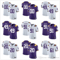 Wholesale Custom Mens Youth LSU Tigers Any Name Any Number Personalized Kids Man Home Away NCAA College Football Jerseys