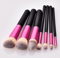 Wholesale black eyeshadow styles resale online - Pro Makeup brush tools kit for Eyeshadow Blush cosmetics fashion style wood handle nylon brush head make up tools accessories DHL