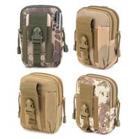 bolsillos de cintura militares al por mayor-Laamei Military Mini Bags Portátil Molle Pouch Belt Loops Bolsa de la cintura Caja del teléfono para Smartphone Camuflaje Bolsa para hombres