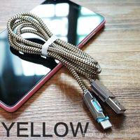 led-kabel preis großhandel-UK Details zu DZ Nylon Geflochtene Lichter LED Micro-USB-Kabel Android Sync-Daten-Kabel-Typ-C Schnellen Großhandelspreis