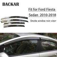 Wholesale ford fiesta accessories resale online - Backar Auto Car Windows Rain Wind Sun Shield Deflector Visor Trim For Ford Fiesta Sedan Accessories All Weather