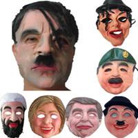 mascarillas de celebridades al por mayor-Máscaras de Halloween para adultos Celebrity hombre rostro máscara de la máscara de la cara llena transpirable fiesta de la mascarada de Halloween Látex ornamento real Simular