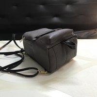 okul çantası çantası toptan satış-Tasarım Sırt Çantası Deri Çanta Kız Okulu Çanta Bayan Tasarımcı Omuz Çantaları Purse 16/20 / 26cm