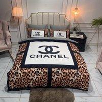 Wholesale leopard bedding set sheets for sale - Group buy C C luxury bedding sets high quality leopard print duvet cover set designer bed sheets best quality queen size designer bedding