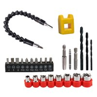 Wholesale electronic connections resale online - 11 Flexible Shaft Bits Extention Screwdriver Drill Bit Holder Connection Link Electronic Hex Shank Repair Tools