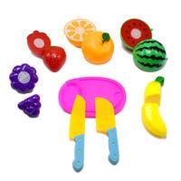 литейный цех оптовых-Над каждой семьей Игрушки Play House Toys Формы Мини Реквизит Фрукты Ножи, практикующие Набор для резки 8