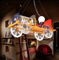 Wholesale car chandelier resale online - Creative cartoon car LED eye children room chandeliers boys and girls bedroom lovely lighting LLFA