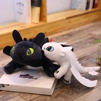 Wholesale yiwu items toys resale online - 35cm How to Train Your Dragon Plush Toy Movie Toothless Light Fury Dragon Stuffed Animals Christmas Gifts Novelty Items kids toys