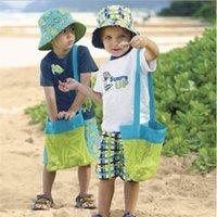 ingrosso singoli ragazzi da spiaggia-Grid Beach Borsa a tracolla singola Estate Conch inclinata Borsa spalle per i bambini Shell custodia Pocket Boy Girl 4tz D1