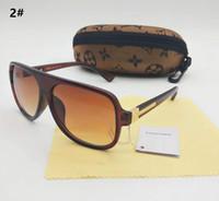 gölgelendirici gözlükler toptan satış-Yaz Klasik Altın Tutum Güneş Gözlüğü Kare Pilot marka Güneş Erkek Lüks Tasarımcı Güneş gözlükleri Shades ile Yeni hediye kutusu