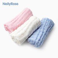 neugeborenes baby-baumwolltuch großhandel-Baby Gaze Speichel Handtuch Baby Baumwolle kleines Quadrat Handtuch Neugeborenen Bad waschen Handtuch 28cm * 28cm