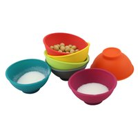 Wholesale kitchens colours resale online - Silicone Small Bowl Baby Bowls Colour Kitchen Condiment Mask Bowl Supplies Resistance To Fall ws UU
