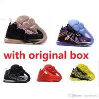 camo sapatos laranja execução venda por atacado-Barato novo mens lebrons 17 XVII tênis de basquete para venda retro lebron james 17 s MVP BHM Oreo crianças mulheres sapatilhas botas caixa original 7-12