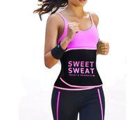 cinto de fitness para mulheres venda por atacado-Unisex Homens Mulheres de Fitness Ajustável Doce Suor Cintura Trimmer Cintura Shapewear Cinto de Emagrecimento Cinto de Ginástica-Rosa Preto Amarelo