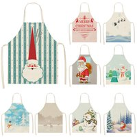 Wholesale pinafores kitchen for sale - Group buy Christmas Apron Santa Claus Snowman Pinafore Cotton Linen Aprons Adult Bibs cm for Home Kitchen Cooking Baking