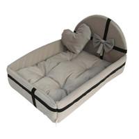 büyük peluş kedi toptan satış-küçük orta büyük köpekler kedi Tyteps Kış Kennel pet mat için Sıcak yün köpek yatağı 4 boyutları yuvarlak sevimli peluş yastık
