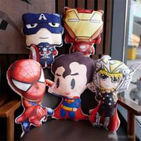 spinnenmann plüsch puppe großhandel-Marvel The Avengers 4 Iron Man Spider-Man Captain America Kissen-Plüsch-Spielzeug-Kissen Anime Puppe Kinderspielzeug