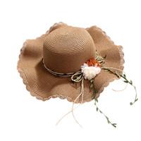 ingrosso cappelli graziosi-2019 a mano arco donna spiaggia sexy cappello colore solido pieghevole protezione solare bella spiaggia cappello estivo sport all'aria aperta ragazza 40J5