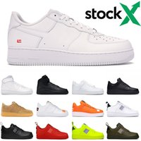 Wholesale mens shoe casual for sale - Group buy 2020 Men Women Designer Casual Sneakers Skateboard Shoes Low Sup Black White Utility Red Flax High Cut High quality Mens Trainer Sports Shoe