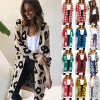 весеннее осеннее материнское пальто оптовых-Женщины леопардовым принтом верхняя одежда 17 цветов длинный отрезок кардиган пальто мода весна осень теплая леди топы одежда для беременных C5639