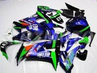 kawasaki için motosiklet parçaları toptan satış-Yeni ABS motosiklet bisiklet grenaj kitleri Kawasaki Ninja ZX10R 2008 2009 2010 ZX10R 08 09 10 kaporta kaporta özel mavi yeşil serin için uygun