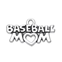 Wholesale baseball charms for jewelry making resale online - New Fashion Easy to diy Festival Gift Baseball Mom Charms Jewelry For Women jewelry making fit for necklace or bracelet
