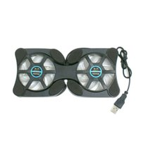 Wholesale china laptop cooling pad resale online - Foldable USB Cooling Pads For Laptop With Dual Fan Small Portable Octopus Cooling Pads