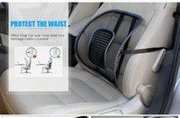 almofadas frias para carros venda por atacado-Venda de Cadeira de Escritório Tampa Do Assento Do Carro Sofá Cool Massage Almofada Lombar Cinta Travesseiro Almofada Lombar Assento Traseiro Do Carro Novo Frete Grátis