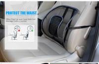 almohada de masaje envío gratis al por mayor-Venta silla de oficina asiento de coche cubierta sofá fresco masaje cojín lumbar espalda corsé almohada lumbar cojín nuevo coche asiento trasero envío gratis