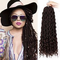 Wholesale braid ends for sale - Group buy Fashion Goddess Faux Locs Soft Hair with Deep Ends Goddess Locs Crochet Hair Inch Synthetic Braiding Hair Extension Roots