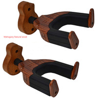 Wholesale bass guitar woods for sale – custom Guitar Hanger Wall Mount Hook with Auto Lock Safe for All Guitars Bass Cello Mandolins Rosewood Guitar Shape Wood Base
