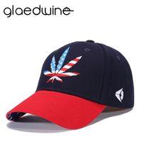 Wholesale leaves hats resale online - Glaedwine Summer Hats For Men s Women s leaves Baseball Cap Adjustable dad Hat Sunscreen Snapback Embroidery Unisex sun hat
