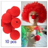 decoração bola vermelha venda por atacado-100pcs / lot Decoração bola de esponja vermelha mágica Nariz de Palhaço para Halloween Masquerade Decoração crianças brinquedo frete grátis