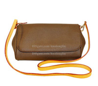 Wholesale cosmetic bags for sale - Group buy Leather Women Bag Messenger shoulder cross body cosmetic case purse with serial number