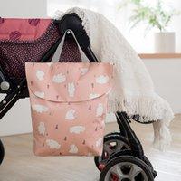 baby reise nasse tasche großhandel-6styles Animal Printed Nappy Bags Wasserdichte Wet Bag Wiederverwendbare Travel Wet Dry Bags Wickeltasche für Neugeborene Baby Handtasche FFA2641