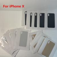 célula de bateria de volta venda por atacado-Vidro traseiro para o iPhone X XR XS XSMAX bateria tampa traseira Porta Habitação Big Mantenha todas as cores